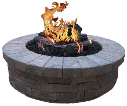 gas starting fireplace burners