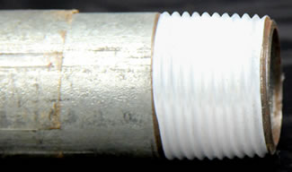 Taped Pipe Threads